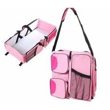 3 in 1 ที่นอนเด็กแบบพกพา กระเป๋าคุณแม่ 3 IN 1 BABY TRAVEL BED & BAG ( สีชมพู)