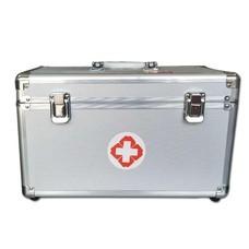 กล่องปฐมพยาบาล กล่องยา Aluminum Portable First Aid Kit Storage Box with Shoulder ( ไซส์ M )