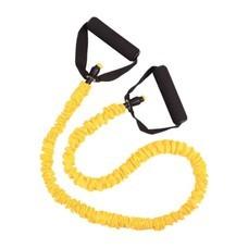 ยางยืด ออกกำลังกาย พร้อมมือจับ และ ผ้าหุ้มเชือก 1.2 M (สีเหลือง)