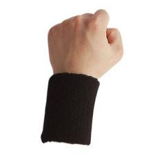 Abloom ผ้ารัดข้อมือ กีฬา ซับเหงื่อ Wrist Support Sports Towel 1 คู่ (สีดำ)