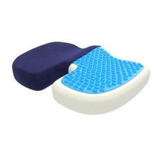 เบาะรองนั่ง เมมโมรี่โฟม พร้อมเจลเย็น Memory Foam With Cooling Gel Seat Cushion -Blue