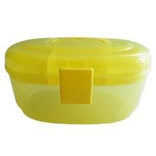 กล่องอเนกประสงค์ 2 ชั้น จัดเก็บอุปกรณ์ Multipurpose Storage Box ( สีเหลือง)