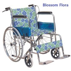 Abloom Standard Wheelchair รถเข็น ผู้ป่วย เหล็กชุบ พับได้ รุ่นมาตรฐาน พร้อมเบรคมือ Special Collection (รุ่น Blossom Flora)