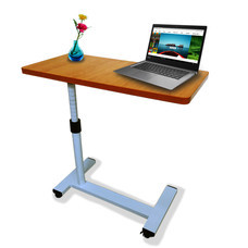 Abloom โต๊ะคร่อมเตียง หน้าไม้ ปรับสูงต่ำได้ Height Adjustable Wooden Top Over bed Table