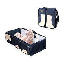 3 in 1 ที่นอนเด็กแบบพกพา กระเป๋าคุณแม่ 3 IN 1 BABY TRAVEL BED & BAG ( สีน้ำเงิน)