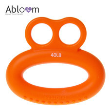 Abloom ซิลิโคนบริหารมือ ทรงแหวน Silicone Ring Hand Exerciser - สีส้ม