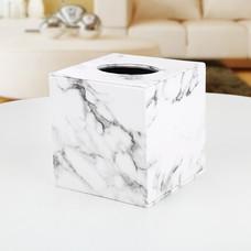 Orzer กล่องทิชชู่ ลายหินอ่อน ของแต่งบ้าน Tissue Box Luxury Marble Collection (ทิชชู่ม้วน)