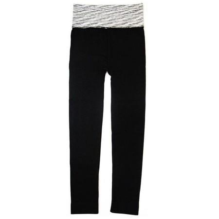 กางเกงออกกำลังกาย ขายาว Quick Dry Fitness Pants สีดำ ขอบเทา