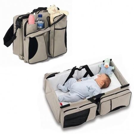3 in 1 ที่นอนเด็กแบบพกพา กระเป๋าคุณแม่ 3 IN 1 BABY TRAVEL BED & BAG ( สีเบจ)