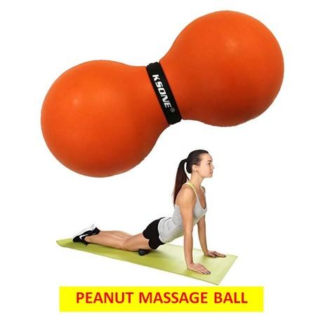 ลูกบอลนวด คลายกล้ามเนื้อ ทรงถั่ว นวดคลายจุด สลายพังผืด Peanut Rubber Massage Ball Double , Lacrosse Ball for Trigger Point Therapy, Foot & Pain Relief