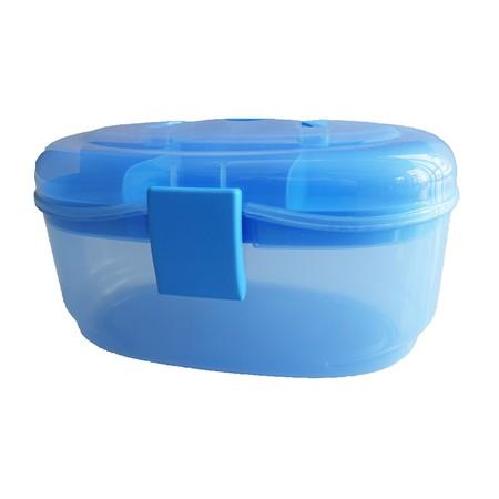 กล่องอเนกประสงค์ 2 ชั้น จัดเก็บอุปกรณ์ Multipurpose Storage Box ( สีฟ้า)