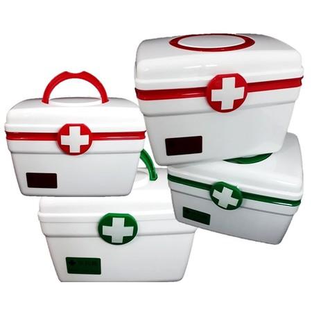 กล่องยา ปฐมพยาบาล 2 ชั้น 2-Layer First Aid Kit Box Medicine Storage (มีไซส์ และ สีให้เลือก)