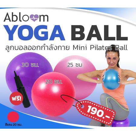 Abloom ลูกบอลออกกำลังกาย ขนาดเล็ก ลูกบอลโยคะ พิลาทิส Exercise Balls Pilates Ball, Yoga Ball ขนาดเล็ก 20 ซม. ( สีแดง )