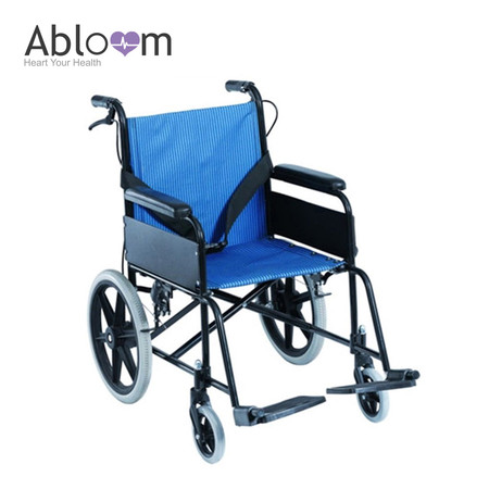 Abloom รถเข็นผู้ป่วย อลูมิเนียม ล้อเล็ก - Blue