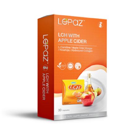 (ของแท้ ส่งด่วน) LEPAZ เลอปาซ LCH with Apple Cider กระชับส่วน 30 แคปซูล