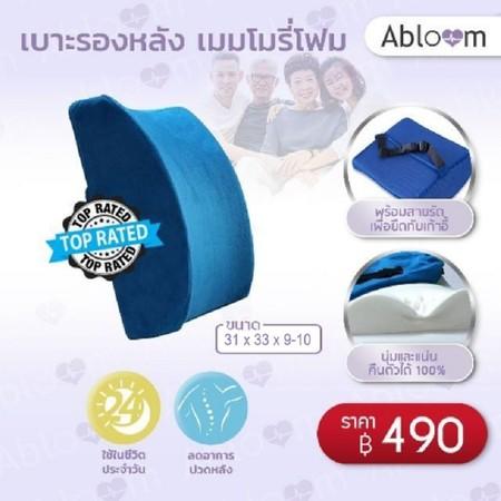 Abloom เบาะรองหลัง Memory Foam Back & Lumbar Pillow