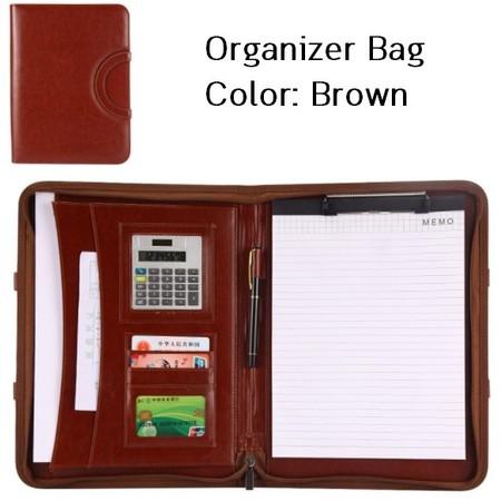 กระเป๋าเอกสาร จัดระเบียบ กระเป๋านักธุรกิจ Business Portfolio Folder Document Cas ( สีน้ำตาล)
