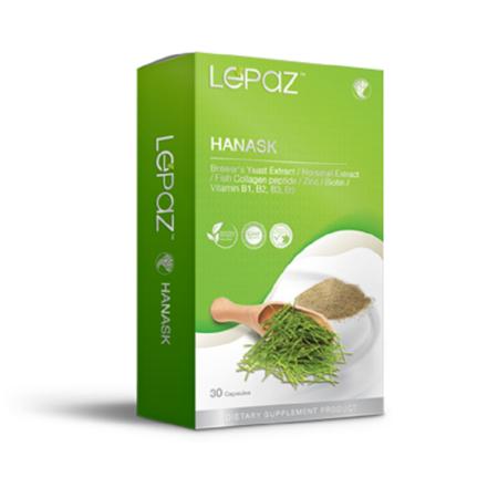 (ของแท้ ส่งด่วน) LEPAZ Hanask เลอปาซ ฮานาสก์ 30 แคปซูล ดูแลสุขภาพ เส้นผม เล็บ และ ผิวพรรณ