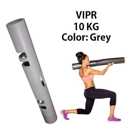 ViPR ไวเปอร์ อุปกรณ์ออกกำลังกายทรงกระบอก กระบอกน้ำหนัก Fitness Tube Viper ( สีเทา)