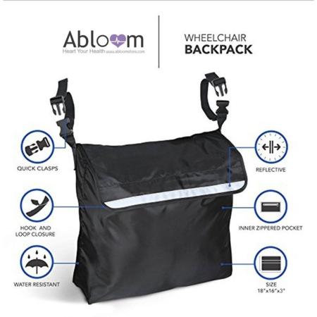 อุปกรณ์เสริม กระเป๋า แขวนรถเข็นผู้ป่วย Wheelchair Bag Wheelchair Accessoriesด้านหลัง