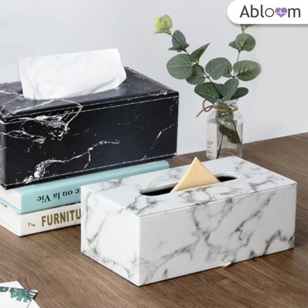 Orzer กล่องทิชชู่ ลายหินอ่อน ของแต่งบ้าน Tissue Box Luxury Marble Collection (มีสีให้เลือก)