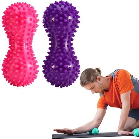 ลูกบอลนวด ทรงถั่ว แบบมีหนาม (สีชมพู/สีม่วง)