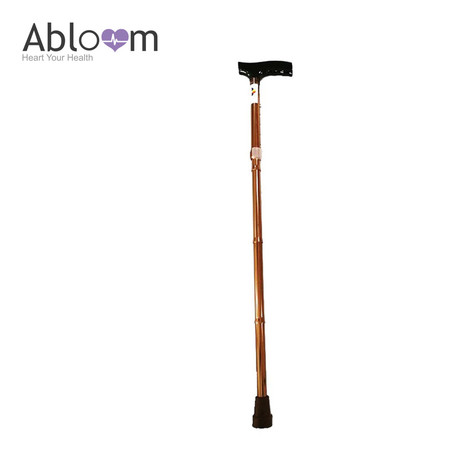 Abloom ไม้เท้า Aluminum Foldable Light Weight Cane (พับได้) - Brown