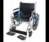 รถเข็นผู้ป่วย เหล็กชุบ พับได้ รุ่น Heavy Duty - สีดำ Heavy Duty Steel Wheelchair Black