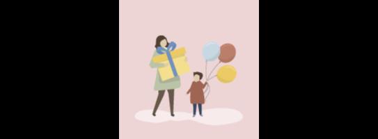 แม่และเด็ก Mom and Baby banner