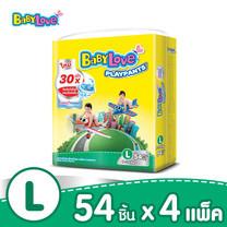 BabyLove PlayPants Nano Power Plus กางเกงผ้าอ้อมเด็ก ขนาดจัมโบ้(ใหญ่) ไซส์ L (54 ชิ้น x 4 แพ็ค)
