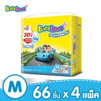 BabyLove PlayPants Nano Power Plus กางเกงผ้าอ้อมเด็ก ขนาดจัมโบ้(ใหญ่) ไซส์ M (66 ชิ้น x 4 แพ็ค)