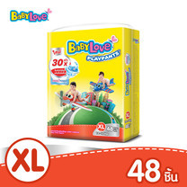 BabyLove PlayPants Nano Power Plus กางเกงผ้าอ้อมเด็ก ขนาดจัมโบ้(ใหญ่) ไซส์ XL (48 ชิ้น)