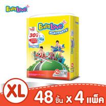 BabyLove PlayPants Nano Power Plus กางเกงผ้าอ้อมเด็ก ขนาดจัมโบ้(ใหญ่) ไซส์ XL (48 ชิ้น x 4 แพ็ค)