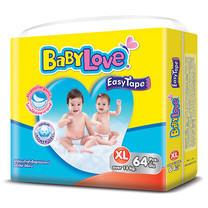 BabyLove Easy Tape ผ้าอ้อมเด็กสำเร็จรูปแบบเทปกาว ขนาดเมก้า(ใหญ่พิเศษ) ไซส์ XL (64 ชิ้น x 3 แพ็ค)