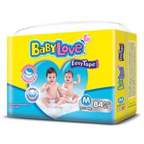 BabyLove Easy Tape ผ้าอ้อมเด็กสำเร็จรูปแบบเทปกาว ขนาดเมก้า(ใหญ่พิเศษ) ไซส์ M (84 ชิ้น x 3 แพ็ค)