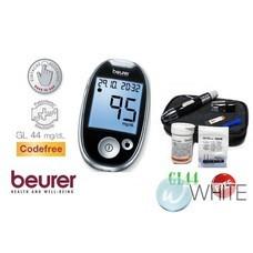 Beurer Blood Glucometer [GL44 สีดำ : 1x เข็มเจาะ 1xแถบวัดน้ำตาล] เครื่องตรวจวัดน้ำตาลในเลือด