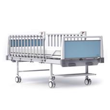 HOSPRO เตียงผู้ป่วย แบบ 2 ไกมือหมุน รุ่น ECO BLUE
