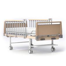 HOSPRO เตียงผู้ป่วย แบบ 2 ไกมือหมุน รุ่น ECO WOOD