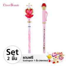 Creer Beaute Miracle Romance Birthday Set B  (Pink Moon Stick Liquid Eyeliner Black + Hensoupen Pencil Eyeliner Black) Free Gashapon คละแบบ