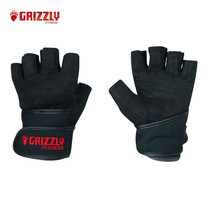 GRIZZLY FITNESS POWER TRAINING WRIST WRAP GLOVES