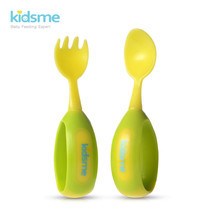 Toddler Spoon and Fork Set - Lime