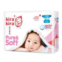 Kira Kira Pure & Soft Tape Jumbo ผ้าอ้อมเด็ก Pack NB (ยกลัง 72 ชิ้น x 3 แพ็ค)