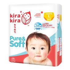 Kira Kira Pure & Soft Pants Jumbo ผ้าอ้อมเด็ก Pack L 44 ชิ้น (Free! Kira Kira Baby Top to Toe Wash 400 ml.)
