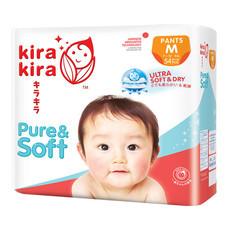 Kira Kira Pure & Soft Pants Jumbo ผ้าอ้อมเด็ก Pack M 54 ชิ้น (Free! Kira Kira Baby Top to Toe Wash 400 ml.)