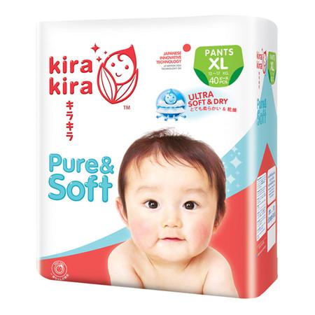 Kira Kira Pure & Soft Pants Jumbo ผ้าอ้อมเด็ก Pack XL 40 ชิ้น