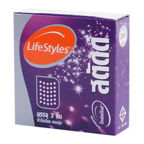Lifestyles Studded ถุงยางอนามัย 52 มม. (6 กล่อง)