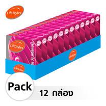 Lifestyles 2 in 1 ถุงยางอนามัย Strawberry 52 มม. (12 กล่อง)