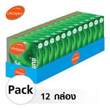 Lifestyles Maxx ถุงยางอนามัย 54 มม. (12 กล่อง)