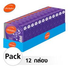 Lifestyles Studded ถุงยางอนามัย 52 มม. (12 กล่อง)