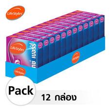 Lifestyles Mixed Berry ถุงยางอนามัย 49 มม. (12 กล่อง)